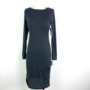 VELVET TORCH Ribbed Long Sleeve Dress